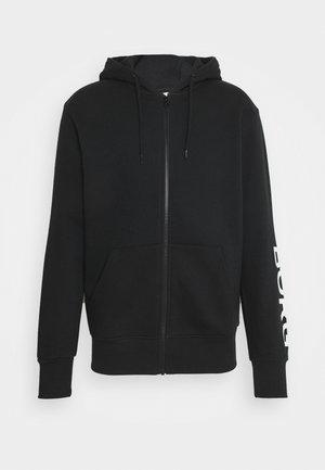 LOGO JACKET - Sweater met rits - black beauty