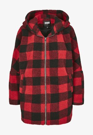 Manteau court - red/black