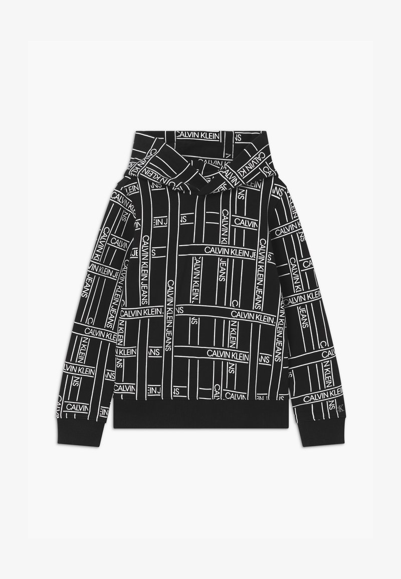 Calvin Klein Jeans - LOGO TAPE HOODIE - Mikina skapucí - black