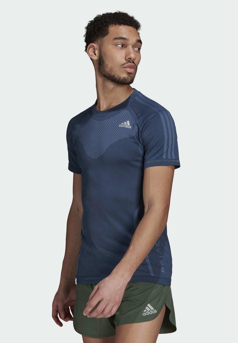 adidas Performance - T-shirts med print - blue
