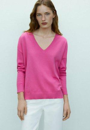 Sweatshirt - neon pink