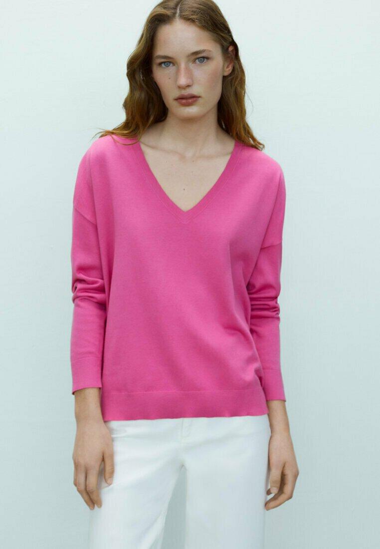 Massimo Dutti - Sweatshirt - neon pink