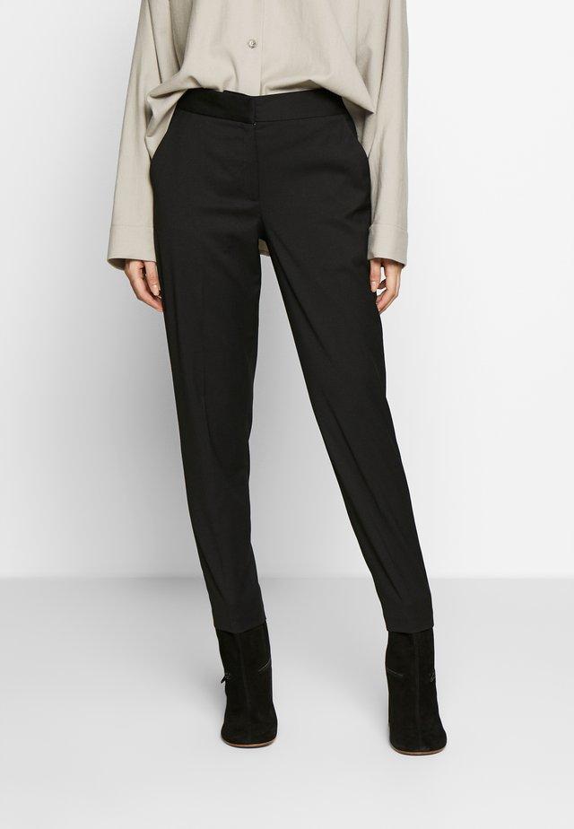 ELISSA - Spodnie materiałowe - black