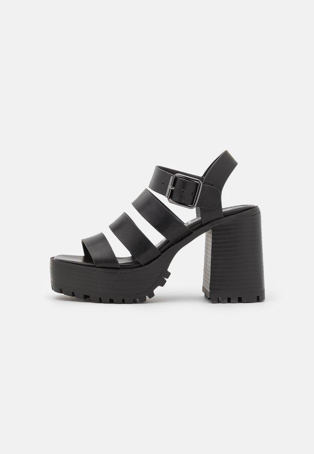 DITA - Sandalen met plateauzool - black