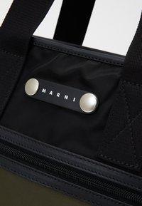 Marni - Shopping bag - black/ultramarine/forest green - 5