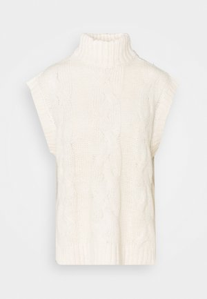 VISALUTA CABLE ROLLNECK VEST - Jumper - birch