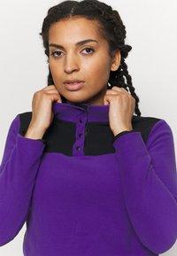 The North Face - GLACIER SNAP NECK - Fleece jumper - peak purple/tnf black - 4