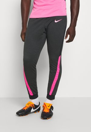 DRY ACADEMY - Verryttelyhousut - dark smoke grey/heather/hyper pink/hyper pink
