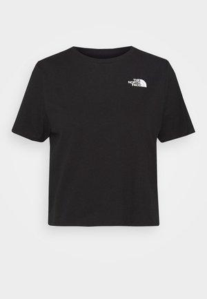 FOUNDATION CROP TEE - T-shirts - black