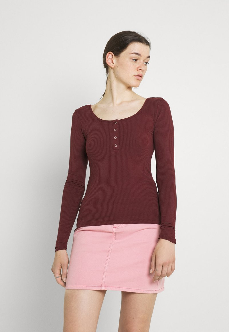 Pieces - PCKITTE - Long sleeved top - red mahogany