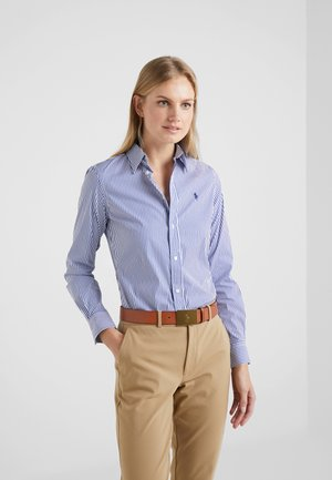 STRETCH  SLIM FIT - Button-down blouse - blue/white