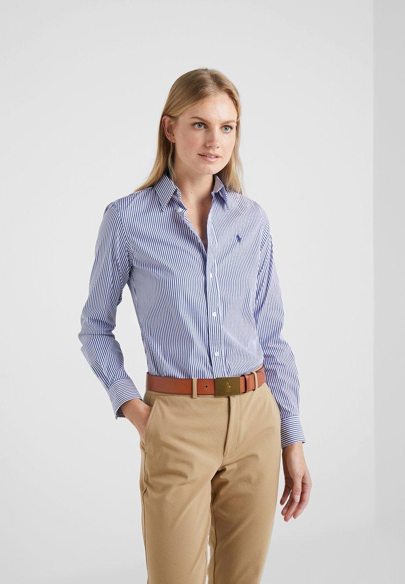 Polo Ralph Lauren - STRETCH  SLIM FIT - Button-down blouse - blue/white