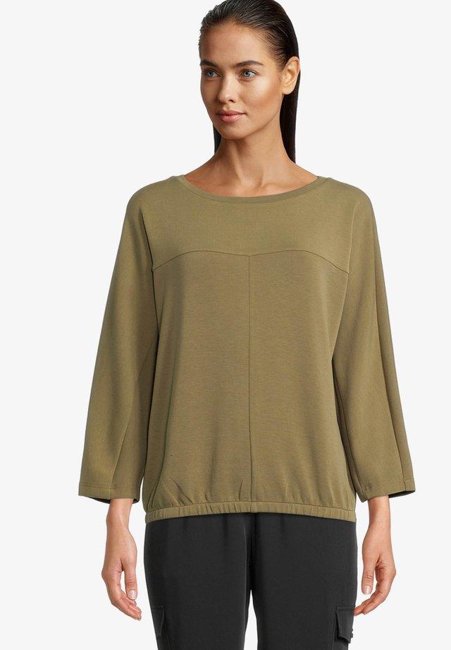 MIT GUMMIZUG - Sweatshirt - grün