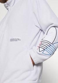 adidas Originals - TRICOL UNISEX - Felpa in pile - white - 4