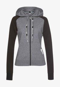 Zip-up hoodie - schwarz-dunkelgrau
