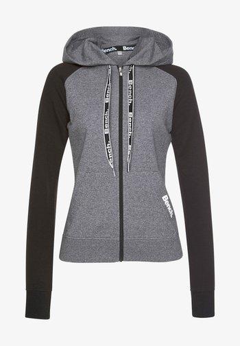 Zip-up sweatshirt - schwarz-dunkelgrau