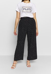 Dorothy Perkins Curve - PALAZZO - Trousers - black - 0