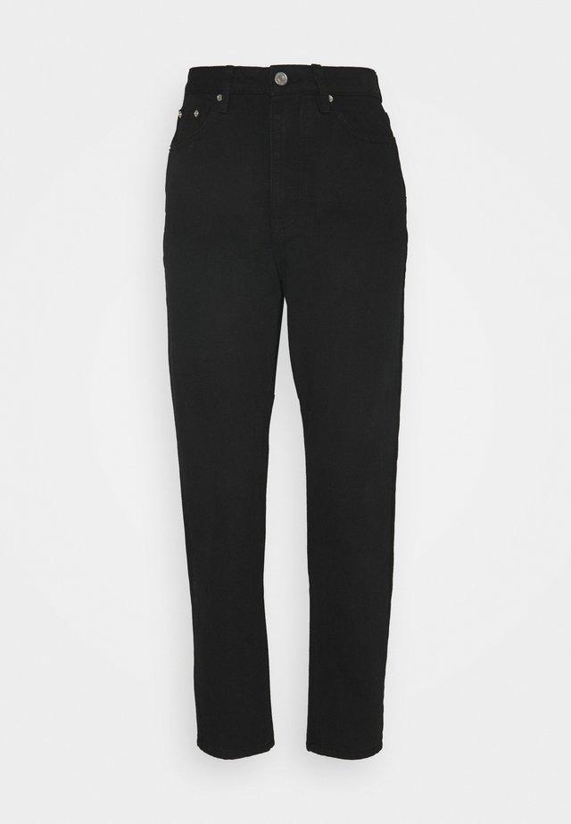 RIOT HIGHWAISTED MOM  - Jeans Straight Leg - black