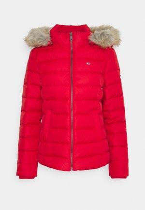 BASIC  - Down jacket - deep crimson