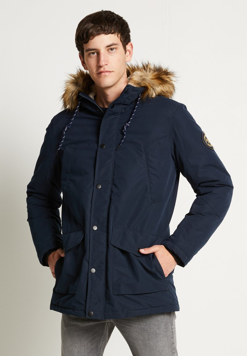 Jack & Jones - JJSKY  - Parka - navy blazer