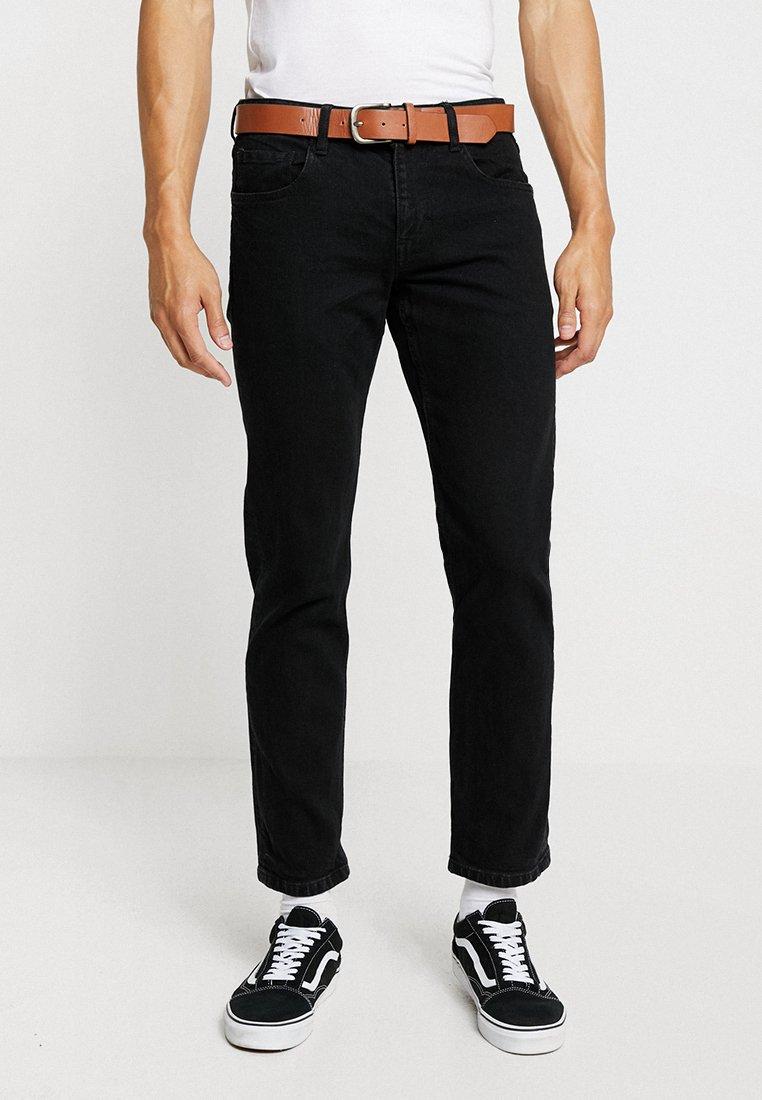 Esprit - Džíny Straight Fit - BLACK RINSE