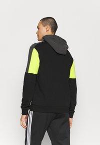 Fila - PARSOM BLOCKED HOODY - Sweatshirt - black/asphalt/sulphur spring - 2