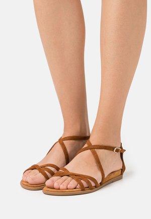 CARCER - Sandals - cognac
