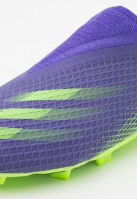 adidas Performance - X GHOSTED.3 FOOTBALL BOOTS FIRM GROUND UNISEX - Kopačky lisovky - energy ink/signal green - 5