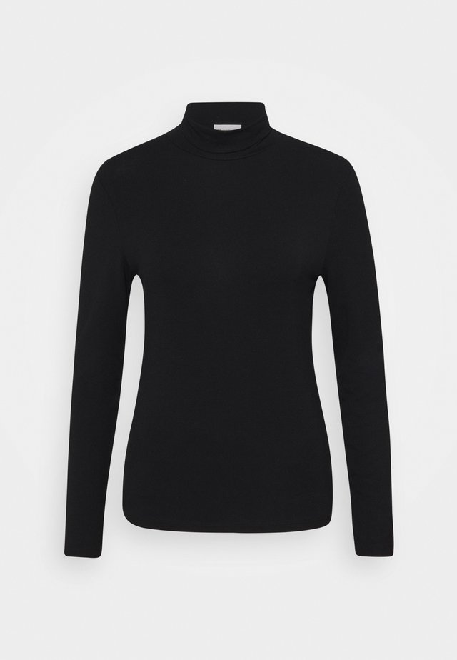 LONGSLEEVE WITH TURTLE NECK - Maglietta a manica lunga - black