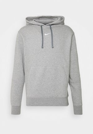 REPEAT HOODIE  - Bluza z kapturem - grey heather/white