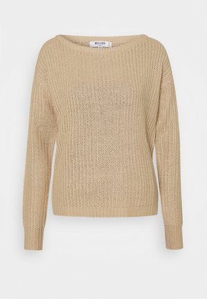 OPHELITA OFF SHOULDER JUMPER - Jumper - sand