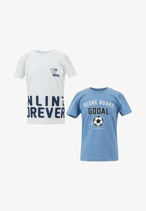 2 PACK - Print T-shirt - blue