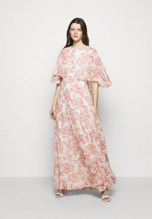 PRINTED CRINKLE LONG - Occasion wear - colonial cream/pink