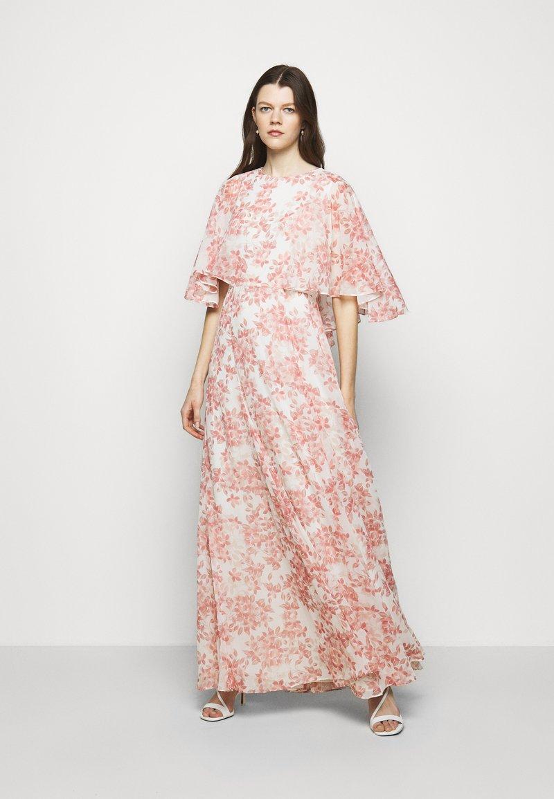Lauren Ralph Lauren - PRINTED CRINKLE LONG - Occasion wear - colonial cream/pink