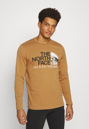 IMAGE IDEALS TEE UTILITY BROW - Long sleeved top - utility brown
