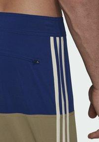 adidas Performance - Swimming shorts - mottled beige/ light blue - 5