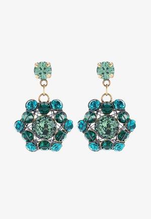 BENDED LIGHTS - Earrings - blue/green