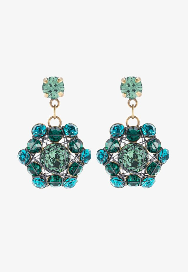 BENDED LIGHTS - Earrings - blue/green