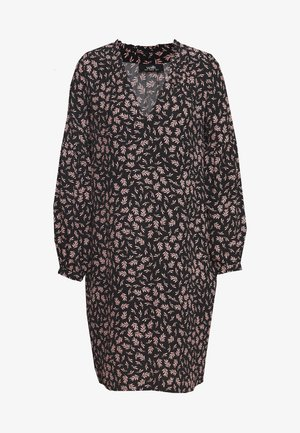 LEAF TUNIC DRESS - Sukienka letnia - black