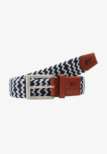 Braided belt - blue/white