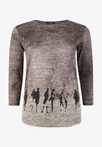 DORIS STREICH - MIT PRINT - Sweatshirt - stein - 0