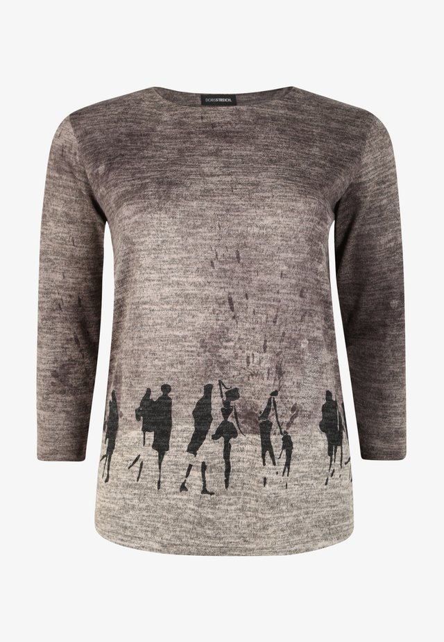 MIT PRINT - Sweatshirt - stein