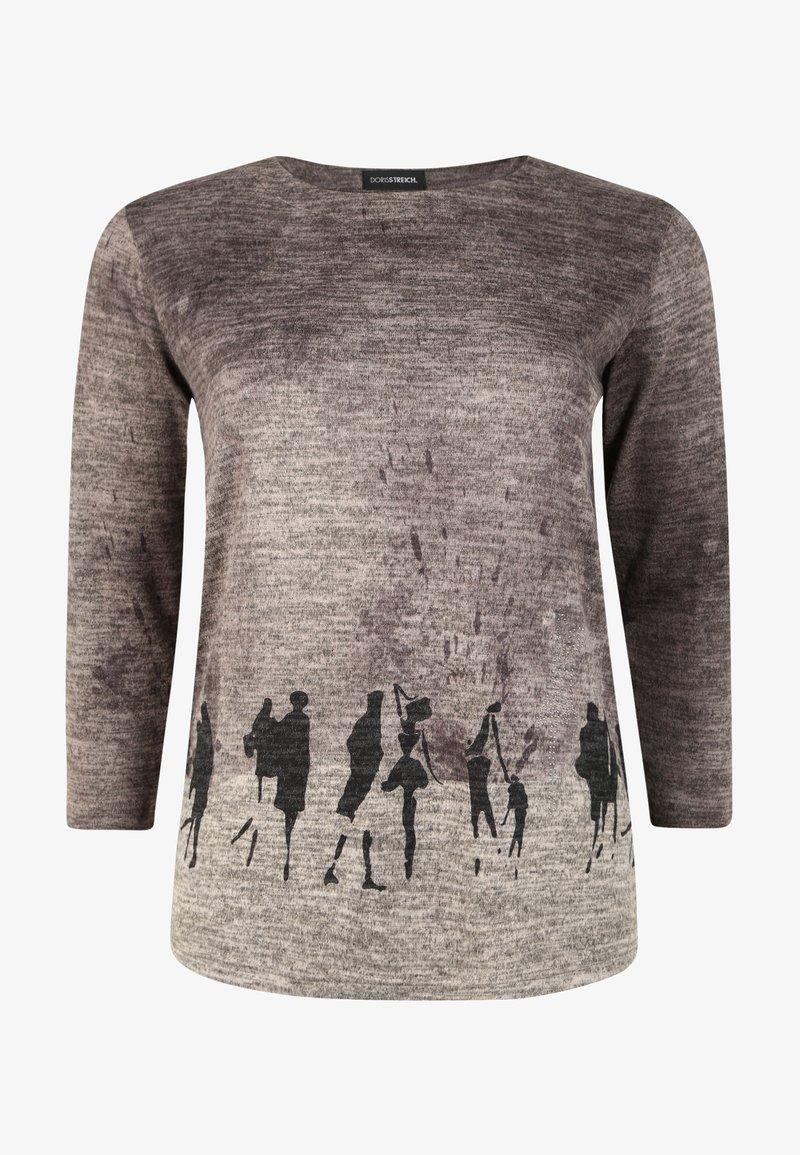 DORIS STREICH - MIT PRINT - Sweatshirt - stein