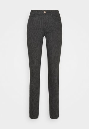 LOTTECR PRINTED PANTS  COCO FIT - Trousers - grey toned