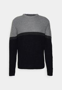 DILLINJA - Sweter - mid grey marl/dark grey marl/black