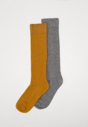 KIDS KNEESOCKS 2 PACK - Knee high socks - grau/honig