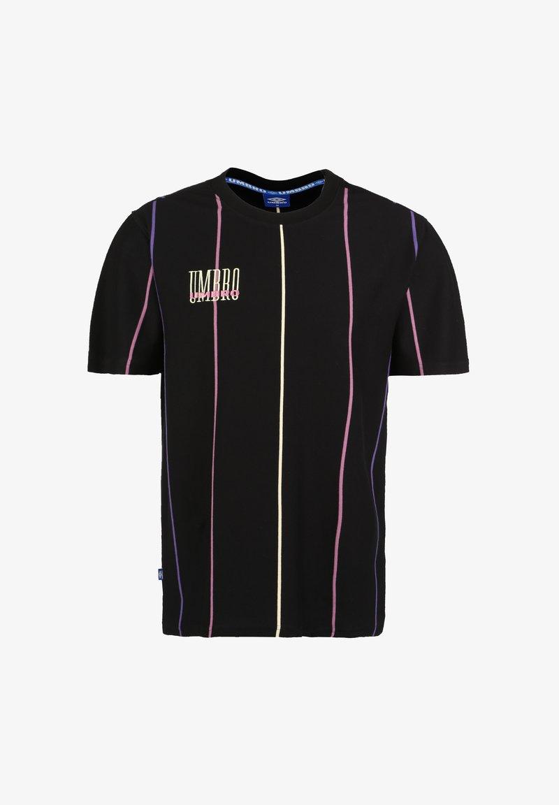 Umbro - PARADISE - Print T-shirt - black / soft yellow / heliotrope / cassis