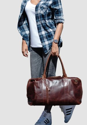 REISETASCHE - YALE ZIP - Weekend bag - braun-cognac
