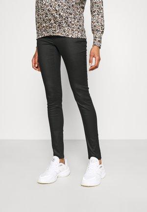 PANTS COATED - Jeans Skinny Fit - black