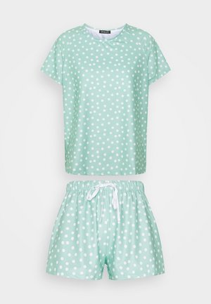 SPOT T-SHIRT WITH SHORTS - Pyjama - green